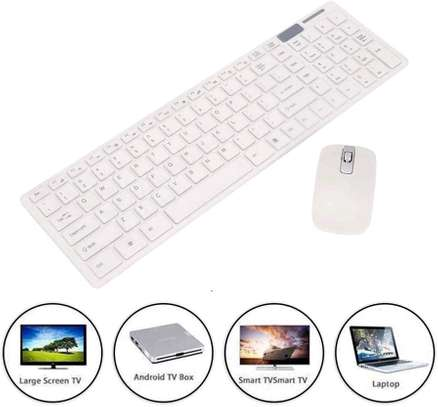K-06 2.4GHz Ultra-thin Wireless Keyboard & Mouse Set - White image 1