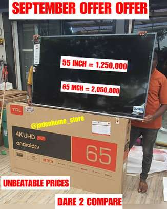 TCL UHD 4K Android Smart TV 65 Inch image 1