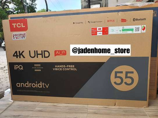 TCL ANDROID SMART 4K/UHD TV 55 INCH image 1