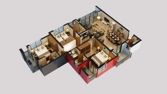 3 Bdrm Modern all Ensuite Apartments at Victoria Treasure image 3