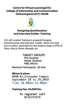 Designing Questionnaire and Interview Guide Training