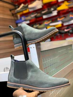 Clarks leather boots. image 4