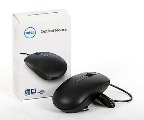 Dell USB Optical Wired Mouse Ms116 Black 1000dpi Scroll Wheel image 2