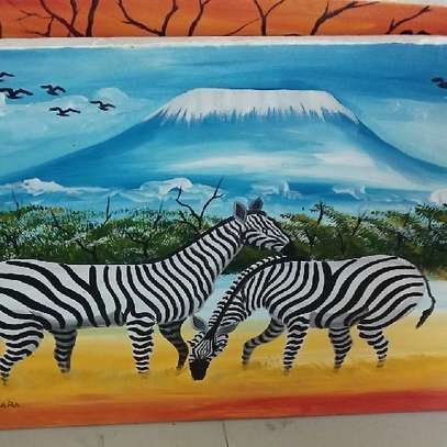 Zebra painted Picture