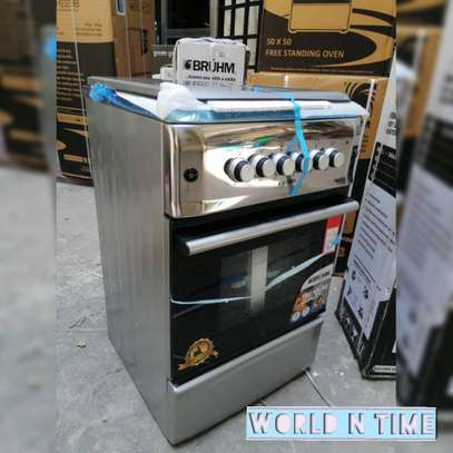 BRUHM COMBINATION COOKER STAINLESS STEEL 50X55 GAS OVEN image 1