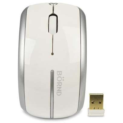 Bornd C160 3 Button Arch Comfortable Handle Wireless Optical Scroll Mouse White image 1
