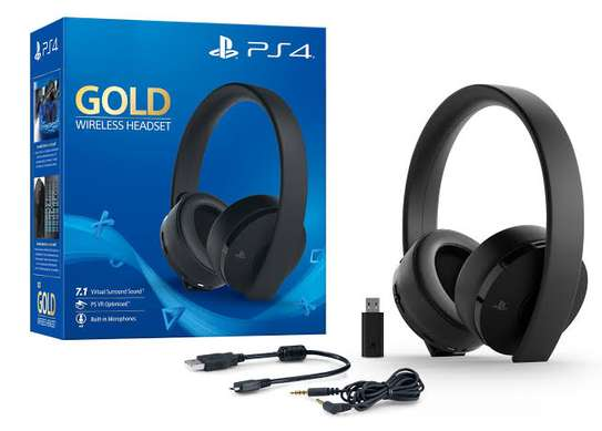 playstation wireless Gold Headset image 1