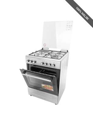 Von Hotpoint 3 Gas + 1 Electric Cooker /50x50 Silver - F5 C31E2 SILVER