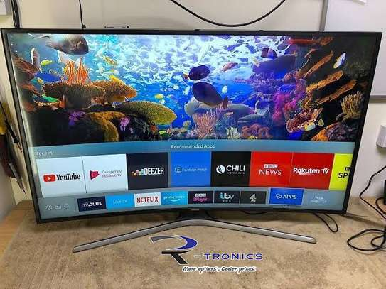 Samsung 49″ Curved 4K Ultra HD Certified HDR Smart TV image 1
