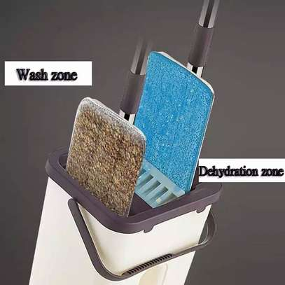 Automatic Squeeze  Scratch Floor Mop with 2PCS rag Cloth for Room,window,ceiling, wall etc. image 7