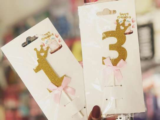 Number Cake / Cupcake Toppers image 1