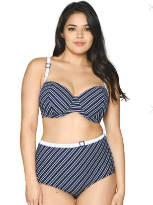 Stripes High Waist Swimwear