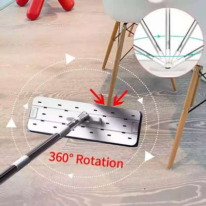 Automatic Squeeze  Scratch Floor Mop with 2PCS rag Cloth for Room,window,ceiling, wall etc. image 12