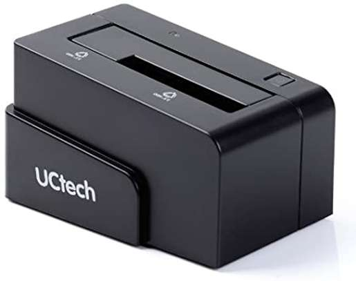 "UCtech USB 3.0 & eSATA to SATA Hard Drive Docking Station for 2.5""/3.5"" HDD, SSD image 1"