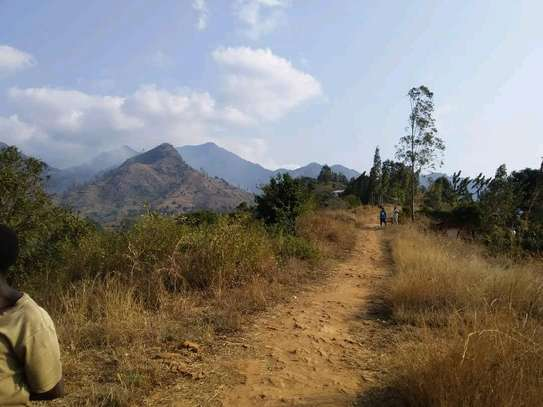 Land for sale at Morogoro on top of Mountain 360° view of water falls/town/Mindu dam/mountains image 3