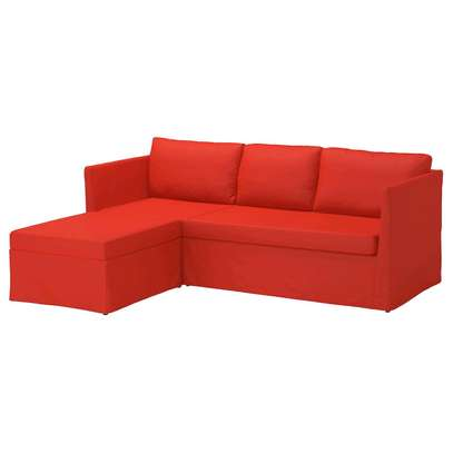 Red L sofa image 1