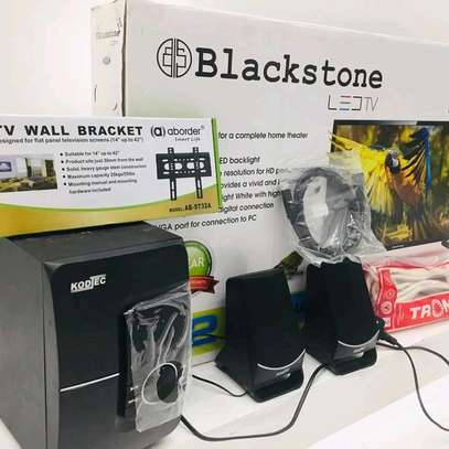 COMBO OFA!...BLACKSTONE LED TV+KODTEC SUB WOOFER+EXTENSION+HDMII CABLE....410,000/= image 1