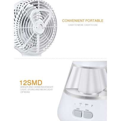 Lontor Mini Table Fan With Lamp (6 Inches) image 5