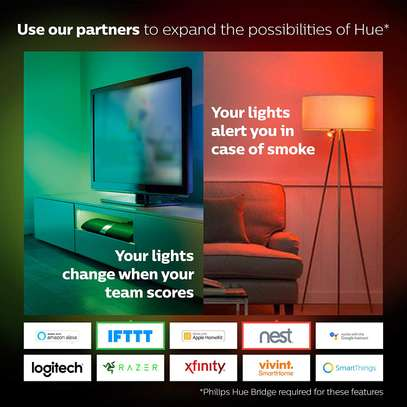 Philips Hue White and Colour Ambience GU10 Dimmable LED Smart Spot Light image 3