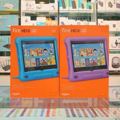 Amazon Fire HD 8 Kids Edition tablet, 8 HD display, 32 GB, Blue Kid-Proof Case image 1