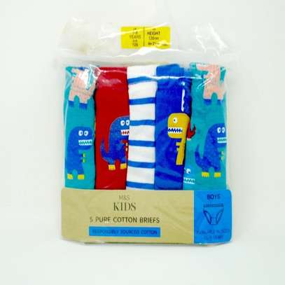 M&S Kids 5 Pure Cotton Briefs For Boys