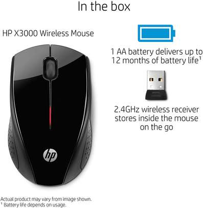 HP X3000 Wireless Mouse, Black image 1