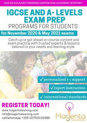 Prepare for your IGCSE and A'level exams