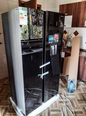 Hisense  Refrigerator H670SMIB-WD | (Side By Side)Mirrow Design image 1