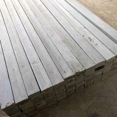 White plastic timber 4inch×4inch 8feet image 1