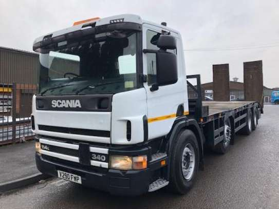 2000 Scania 114 340 8X2 FLATBED  TSHS92MILLION ON THE ROAD image 1