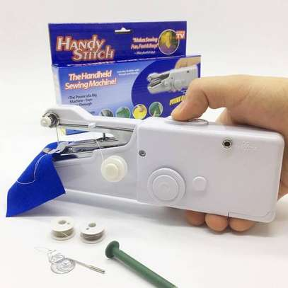 Portable Mini Handheld Sewing Machine Quick Stitch Sew Needlework Cordless Clothes Fabrics Electronic Sewing(Cherehani ya mkono)