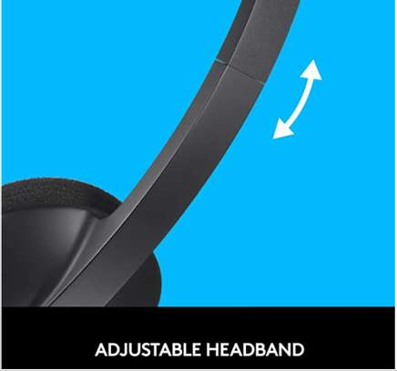 Logitech USB Headset H340, Stereo, USB Headset for Windows and Mac - Black image 3
