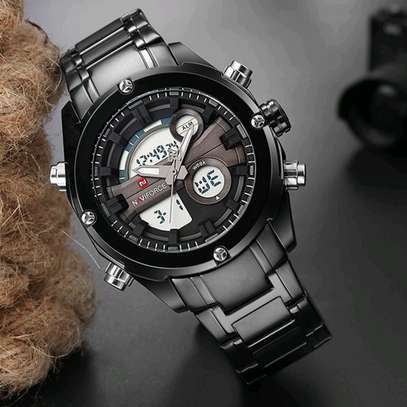 Naviforce Black Fashion Double Display Watch