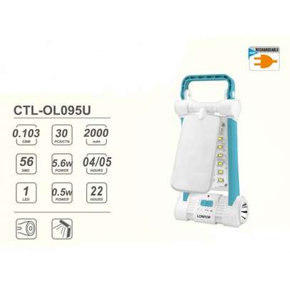 Lontor CTL-OL95U Rechargeable  Camping/Reading lantern With 22H Lighting Time. image 2