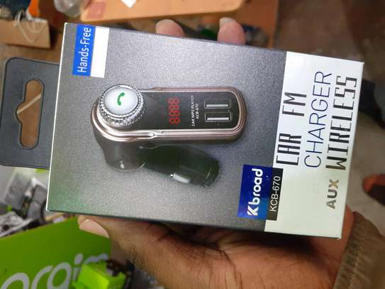 Car Fm Charger wireless image 1