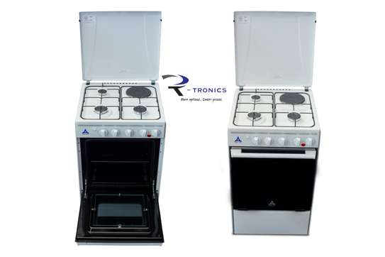 Delta Free Standing 50X55cm 3 Gas Burners + 1 Elec image 1