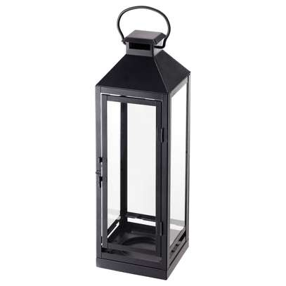 Candle holder, thin black framed