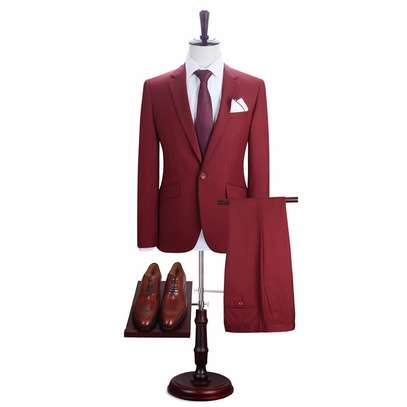 Maroon men's suit