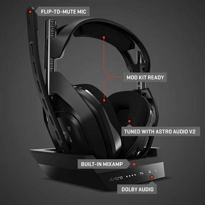 ASTRO Gaming A50 Wireless Gaming Headset + Charging Base Station, Gen 4, Dolby Audio image 8