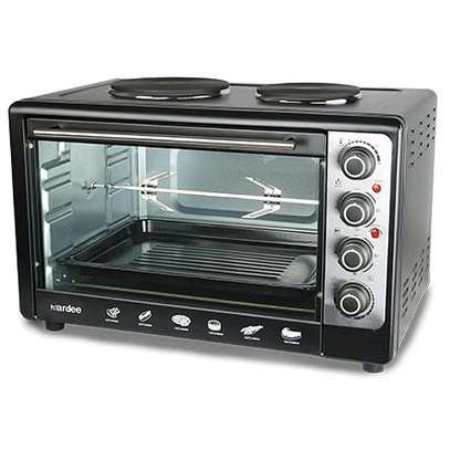 60L Oven Toaster Griller With Rotisseries & 2 hot plates image 1