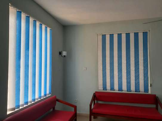 CURTAIN BLINDS- Cloudy Blue Vertical Blinds image 2