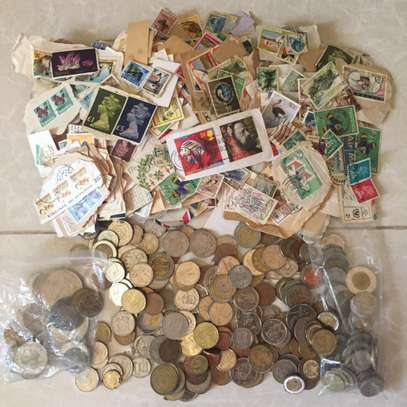 Coins & Stamps Collection for Sale image 1