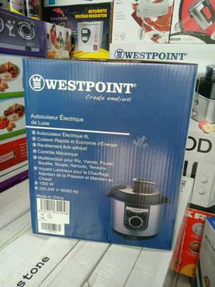 WESTPOINT DELUXE MANUAL ELECTRIC PRESSURE COOKER - 6L..210,000/= image 2