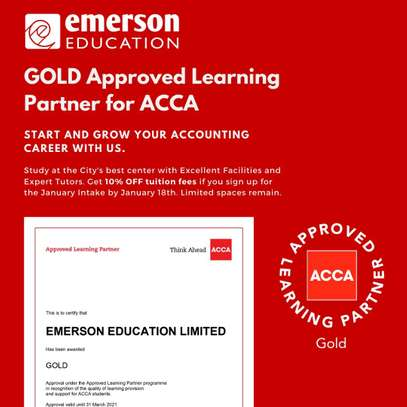 Emerson Education(previously SILVER) now a GOLD Approved Learning Partner of ACCA