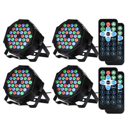 Colorful Disco Lights with remote & music control 4pcs
