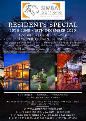 Resident Rates at Karatu Simba Lodge