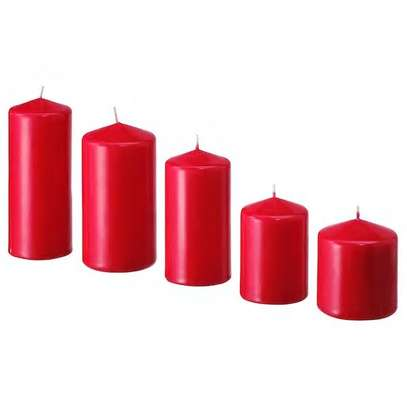 unscented red candles image 1