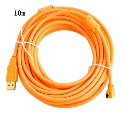 Tether Tools TetherPro USB 2.0 to Mini-B 5-Pin Cable, (10m), High-Visibility Orange