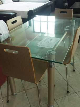 Dinning table with chairs on sale clearance image 1