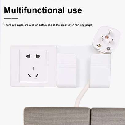 Wall Mounted Organizer Air Conditioner TV Remote Control Storage Box Mobile Phone Plug Holder Multifunction USB Charging Stand image 5